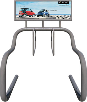 Advertising Bike Rack